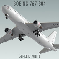 Boeing 767-304 Generic White