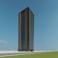 new skyscraper 36 3d model
