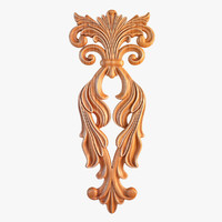 carved decorative element 3d max