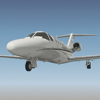 cessna citation aircraft 3d obj