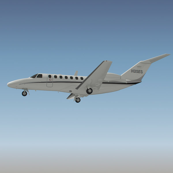cessna citation aircraft 3d max - Cessna Citation Jet 3... by PlastyForma