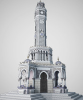 clock tower 3d model