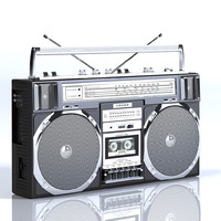Crown Black Boombox