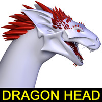 maya realistic dragon head