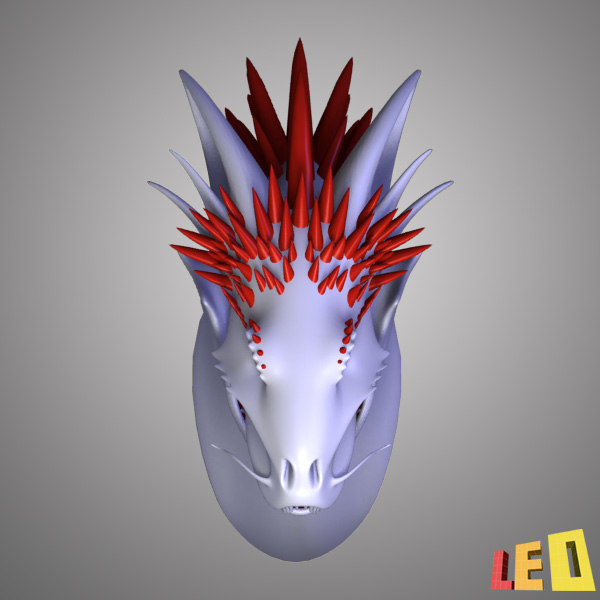 maya realistic dragon head - Dragon Head... by leo3Dmodels