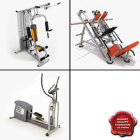 3dsmax gym equipment v8