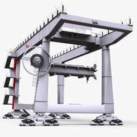 3d industrial cargo tower