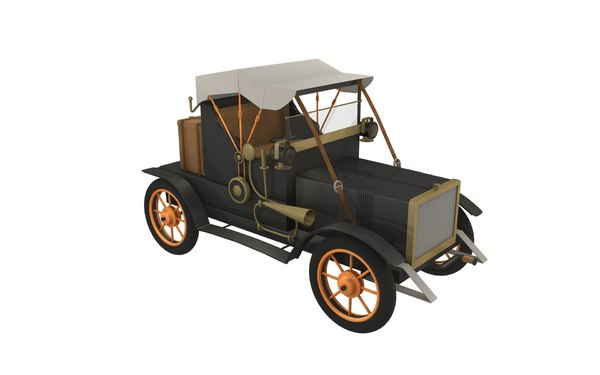 old car 30s 3d model - Old car - 30s... by Cr8g