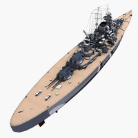 german bismarck 3d model