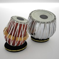 3d tabla indian drums