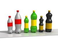3d food bottles cardboard