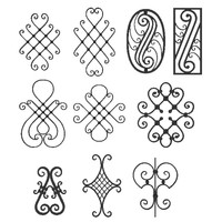 Wrought iron elements collection