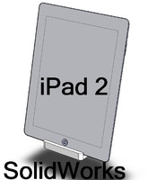 iPad 2 with Dock in SolidWorks 2011