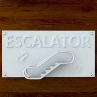 3d printable print escalator sign model