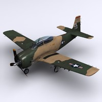 3ds north american t-28 trojan