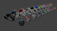 3d 10 chopper motorcycles model