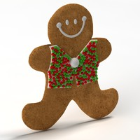 3d model of gingerbread ginger bread