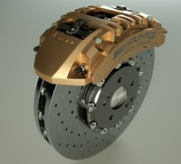 amg carbon ceramic brake 3d model