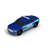 3d 2004 dodge charger police car