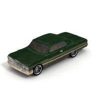 3d lwo 1963 chevy impala sedan