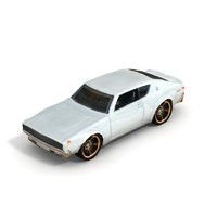 3d model 1973 nissan skyline ht