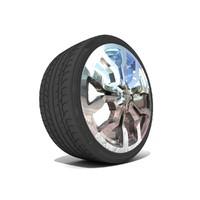 3d sports car rim tire
