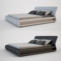 3d model modern contemporary bed