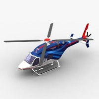 bell 429 helicopter 3d model
