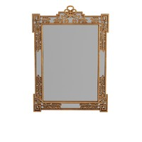 Chelini Classic Carved Leaf Rectangular Wall Mirror