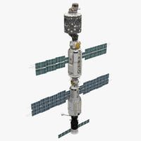 3d model of international space station iss