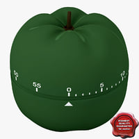 3d max kitchen timer pepper