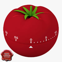3d model of kitchen timer tomato