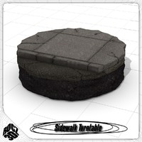 sidewalk turntable 3d model