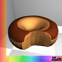 3d model donut doughnut