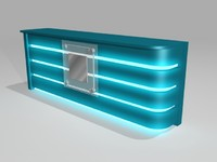 counter logo lights 3d model