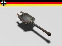 3d german entrenching shovel tool model