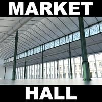 market hall 3d model