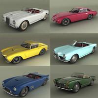 3d model italian classic cars