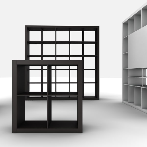 bookcases ikea expedit 3d 3ds