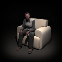 human rigged 3d model
