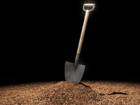 3d shovel soil