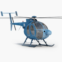 md 500 helicopter 3d obj