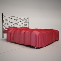 3d sinus metal bed cattelan model