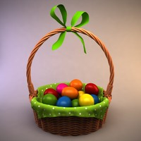 easter basket eggs 3d 3ds