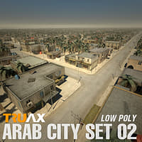 arab city set 02 3d model