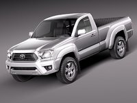 3d toyota tacoma single cab model