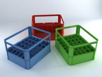 3d model plastic crate
