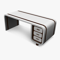 3d obj desk retro design