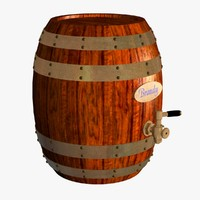 3d model brandy barrel