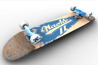 skateboard truck 3d model